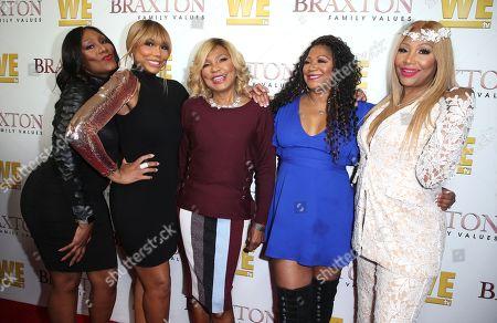 Towanda Braxton, Tamar Braxton, Evelyn Braxton, Trina Braxton and Traci Braxton