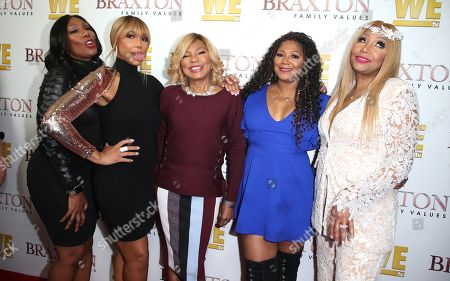 Stock Picture of Towanda Braxton, Tamar Braxton, Evelyn Braxton, Trina Braxton and Traci Braxton