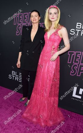 Stock Picture of Agnieszka Grochowska and Elle Fanning