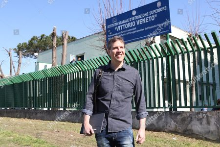 Editorial picture of Author Jeff Kinney visits Scampia, Naples, Italy - 29 Mar 2019