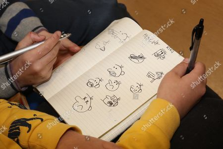'Diary of a Wimpy Kid' author Jeff Kinney visits the Vittorio Veneto school in Scampia, Naples