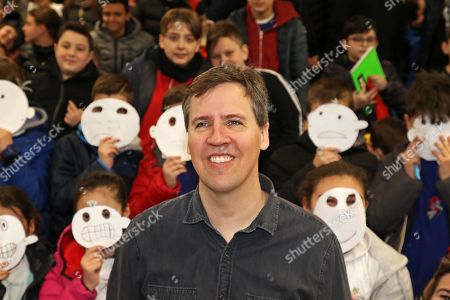 Editorial image of Author Jeff Kinney visits Scampia, Naples, Italy - 29 Mar 2019