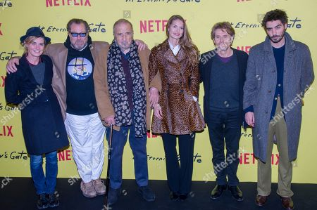 Anne Consigny, Julian Schnabel, Jean-Claude Carriere, Louise Kugelberg, Willem Dafoe and Wladimir Consigny