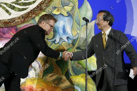 Stock Image of Klay Hall and Kiyo Akasaka