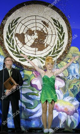 Editorial photo of Tinker Bell inspires 'Green' at United Nations, New York, America - 25 Oct 2009