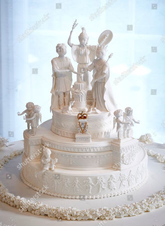 The re-creation of Queen Victoria's wedding cake created by Michael Lewis-Anderson
