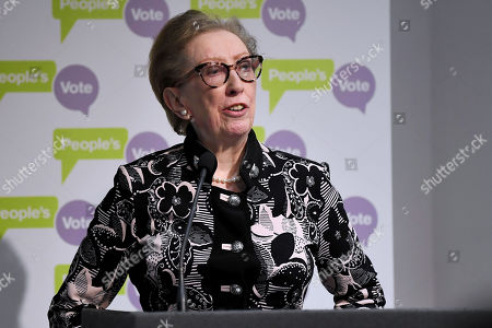 Margaret Beckett MP speech at a People's Vote press conference setting out solutions to Brexit crisis