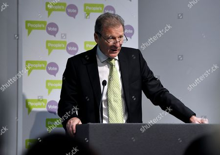 Stock Photo of Lord Sir Gus O'Donnell, former Cabinet Secretary, speech at a People's Vote press conference setting out solutions to Brexit crisis