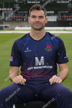 Lancashires James Anderson during the Lancashire County Cricket Club at the Emirates, Old Trafford, Manchester