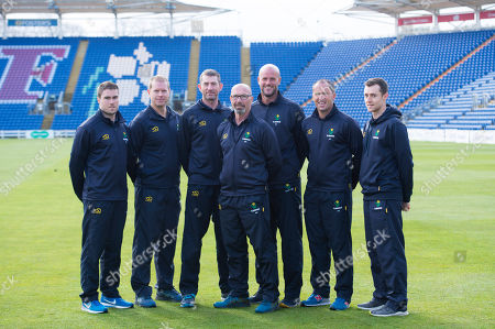 Stock Photo of (L-R) Tom Turner, Richard Almond, Steve Watkins, Matthew Maynard, David Harrison, Adrian Shaw and Chris Hardy.