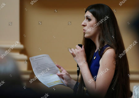 Del. Danica Roem, D-Prince William, speaks during the House session at the Capitol in Richmond, Va