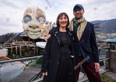 Editorial photo of Set of Rigoletto opera at Bregenz Festival 2019, Austria - 03 Apr 2019