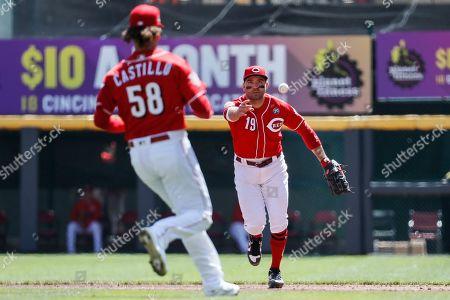 Editorial photo of Brewers Reds Baseball, Cincinnati, USA - 03 Apr 2019