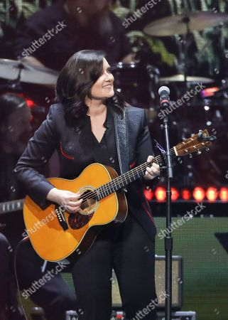 Brandy Clark performs at Loretta Lynn's 87th Birthday Tribute at Bridgestone Arena, in Nashville, Tenn
