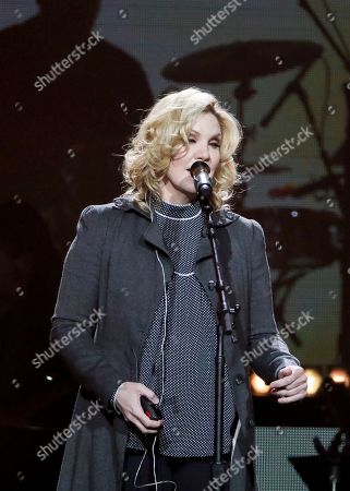 Alison Krauss performs at Loretta Lynn's 87th Birthday Tribute at Bridgestone Arena, in Nashville, Tenn