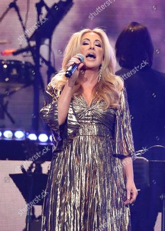 Lee Ann Womack performs at Loretta Lynn's 87th Birthday Tribute at Bridgestone Arena, in Nashville, Tenn