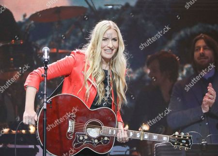 Holly Williams performs at Loretta Lynn's 87th Birthday Tribute at Bridgestone Arena, in Nashville, Tenn