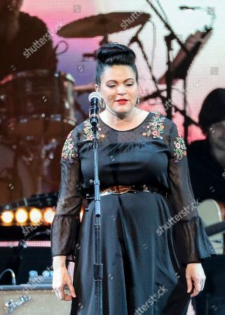 Angaleena Presley performs at Loretta Lynn's 87th Birthday Tribute at Bridgestone Arena, in Nashville, Tenn