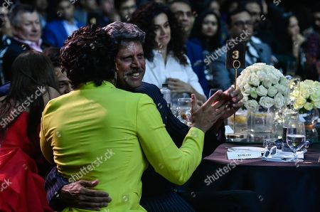 Bollywood actor Ranveer Singh with former Cricketer Kapil Dev