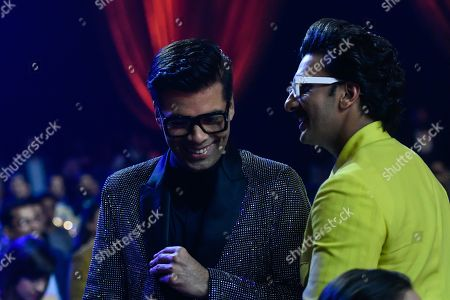 Bollywood actor Ranveer Singh and filmmaker Karan Johar