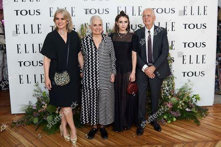 Rosa Tous, Emma Roberts, Rosa Oriol, Salvador Tous