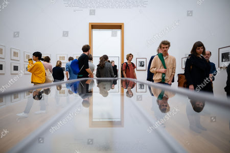 Visitors during the opening of the exhibition 'PEACE is POWER' of the Japanese-American artist Yoko Ono in the Museum of the Fine Arts (Museum der bildenden Kuenste) in Leipzig, Germany, 03 April 2019. Yoko Ono presents her most extensive exhibition of works in Leipzig since her retrospective in the Schirn Kunsthalle in Frankfurt five years ago.
