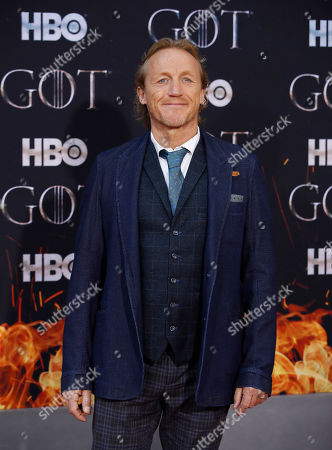 Jerome Flynn arrives for the New York red carpet premiere for the eighth and final season of Game of Thrones at Radio City Music Hall in New York, New York, USA, 03 April 2019.