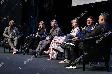 Elvis Mitchell, Elizabeth Banks, Dexter Fletcher, Olivia Wilde, Anthony Russo and Joe Russo