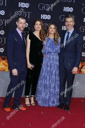D. B. Weiss (Creator, Executive Producer), Andrea Troyer, Amanda Peet and David Benioff (Creator, Executive Producer)