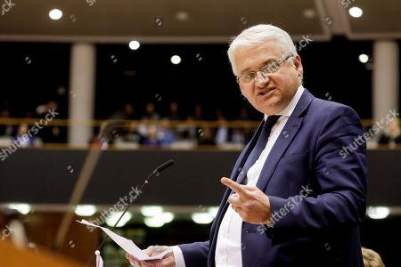 Editorial picture of European Parliament, Brussels, Belgium - 03 Apr 2019