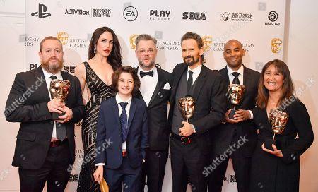 Danielle Bisutti, Sunny Suljic, Cory Barlog, Jeremy Davies, Leilani Ramirez, Santa Monica Studio, Sony Interactive Entertainment Europe - Best Game - 'God of War'