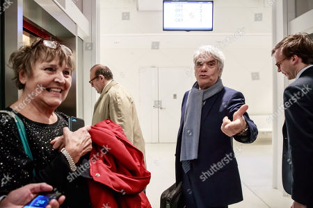 French tycoon Bernard Tapie (C)  arrives at the Tribunal de Paris courthouse for the last day of his trial, in Paris, France, 04 April 2019. French businessman Bernard Tapie goes on trial over a compensation of 404 million euros in 2008, to settle a long-running legal dispute following a fraught 1993 corporate deal regarding the sale of his sportswear company Adidas. The case involves Christine Lagarde, now head of the International Monetary Fund (IMF) but at the time Finance minister of Nicolas Sarkozy's government, and her former chief of staff, Stephane Richard, now chief executive of Orange, among others.