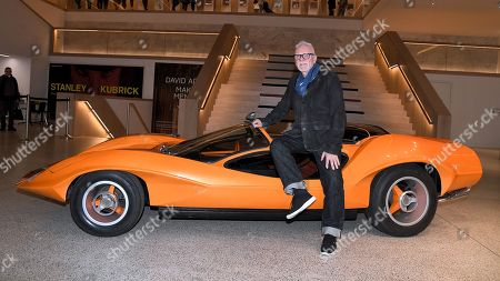 Malcolm McDowell relives A Clockwork Orange in Probe 16 car, part of the Stanley Kubrick: The Exhibition