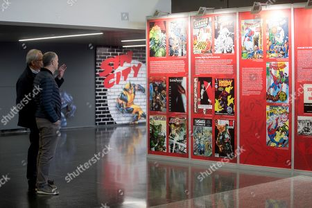 A view of a tribute exhibition in memory of late Stan Lee at the 2019 International Comic Fair of Barcelona, in Barcelona, Spain, 04 April 2019. The exhibition 'Stan Lee and The American Comic Book' will be open to public at the Comic Barcelona Fair that will be held from 05 to 07 April.