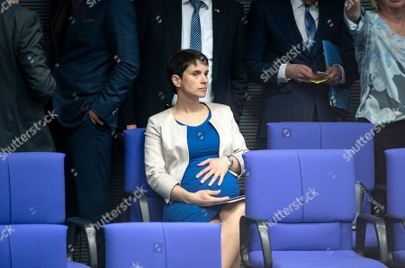 Frauke Petry sits during a session of the German parliament 'Bundestag' in Berlin, Germany, 04 April 2019. Members of the German Bundestag discuss about 70 years of NATO.