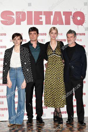 Director Renato De Maria with Riccardo Scamarcio, Sara Serraiocco, Marie-Ange Casta
