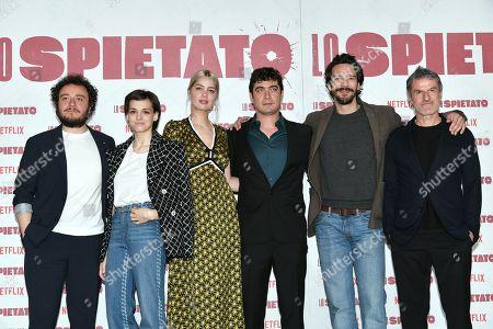 Director Renato De Maria with Riccardo Scamarcio, Sara Serraiocco, Marie-Ange Casta, Alessandro Tedeschi, Alessio Pratico