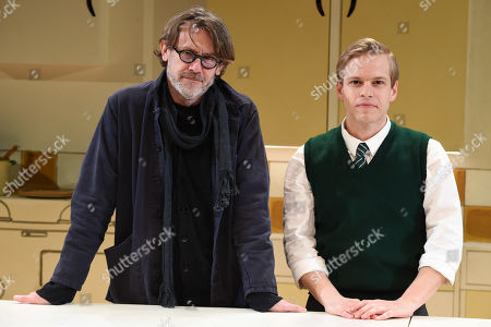 Nigel Slater and Giles Cooper who plays Nigel Slater in the play