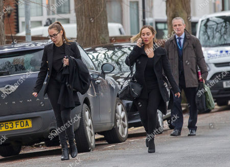 Lauryn Goodman sister Chloe Goodman leave Hove Trial centre after Lauryn received a suspended sentence