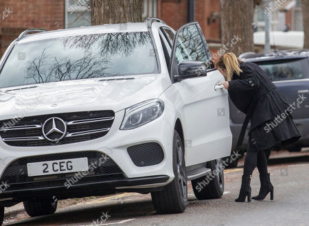 Editorial photo of Lauryn and Chloe Goodman outside Hove Crown Court, UK - 04 Apr 2019