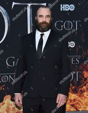 "Rory McCann attends HBO's ""Game of Thrones"" final season premiere at Radio City Music Hall, in New York"