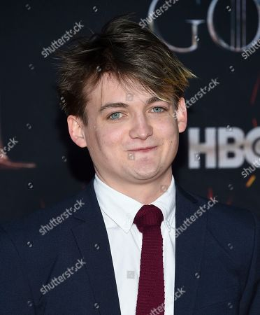 """Stock Image of Jack Gleeson attends HBO's """"Game of Thrones"""" final season premiere at Radio City Music Hall, in New York"""