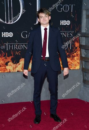 """Jack Gleeson attends HBO's """"Game of Thrones"""" final season premiere at Radio City Music Hall, in New York"""