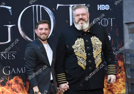 """Kristian Nairn attends HBO's """"Game of Thrones"""" final season premiere at Radio City Music Hall, in New York"""