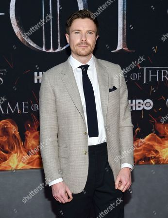 "Joe Dempsie attends HBO's ""Game of Thrones"" final season premiere at Radio City Music Hall, in New York"