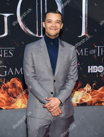 """Jacob Anderson attends HBO's """"Game of Thrones"""" final season premiere at Radio City Music Hall, in New York"""