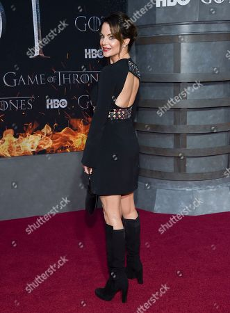 """Kimberly Williams-Paisley attends HBO's """"Game of Thrones"""" final season premiere at Radio City Music Hall, in New York"""