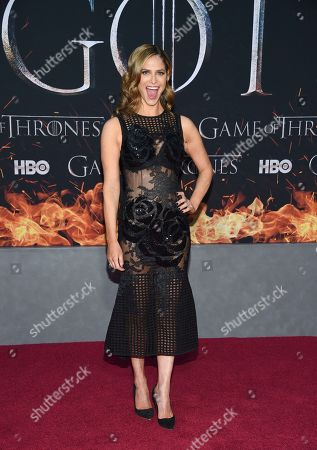 "Andrea Savage attends HBO's ""Game of Thrones"" final season premiere at Radio City Music Hall, in New York"