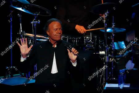 Spain's singer Julio Iglesias performs at the National Auditorium in Mexico City