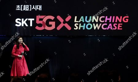 South Korean figure skating superstar Yuna Kim attends a media showcase for its 5G service in Seoul, South Korea. South Korea's telecommunications carriers on Wednesday have turned on super-fast 5G mobile internet networks abruptly ahead of schedule in an attempt to ensure the country becomes the first in the world to launch the services